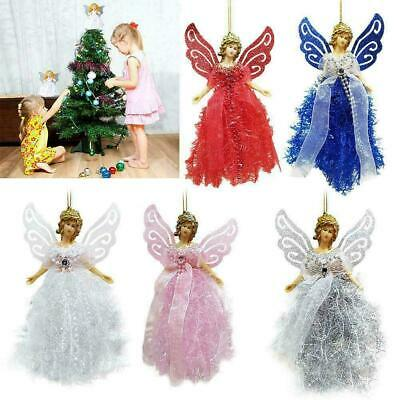 22cm Christmas Angel Fairy Tree Topper Pink Silver Blue Red White Decorations* • 5.49£