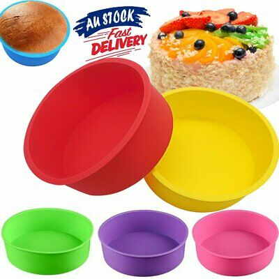 AU10.89 • Buy 6 Inch Cake Mold Round DIY Cakes Pastry Mould Baking Tin Pan Reusable HG