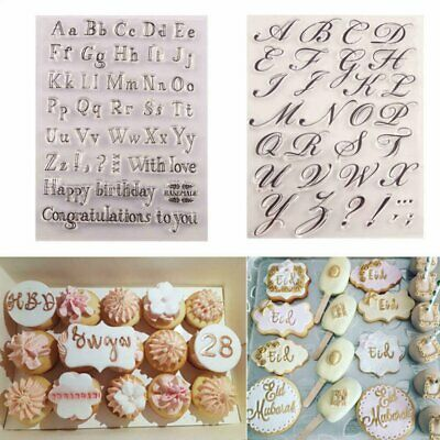 AU10.82 • Buy Fondant Cake Alphabet Letter Cookies Biscuit Stamp Embosser Mold Cutter Decor HG