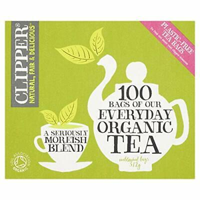 Clipper Organic Everyday 100 Teabags (Pack Of 6, Total 600 Teabags) • 19.99£