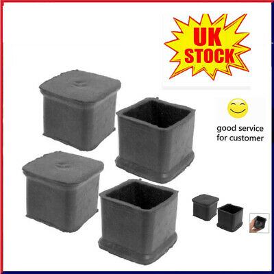 4pcs Chair Leg Cap Rubber Feet Protector Pads Furniture Table Covers Square UK • 3.89£