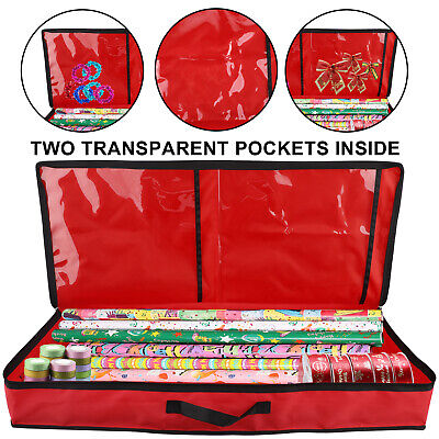 Xmas Wrapping Paper Storage Bag Rolls And Ribbon Holder Heavy Duty Tear Proof • 15.06£