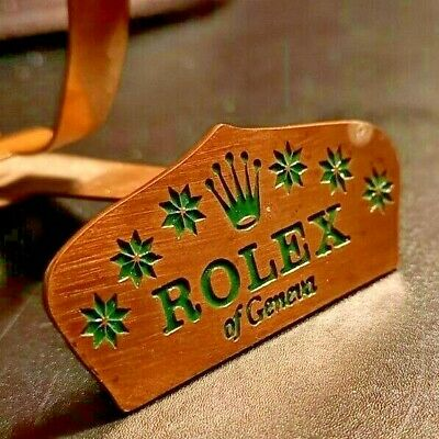 Antique Rolex Geneva Sign Display Stand • 195£