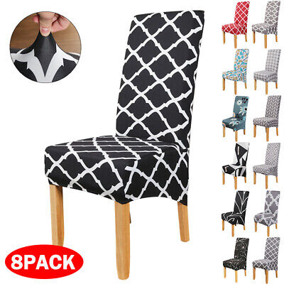£6.83 • Buy Large Stretch Chair Seat Covers Dining Room Slipcover Banquet Home Party Decor