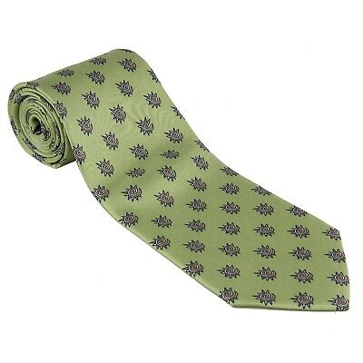 TIE 100% Silk Necktie Fiat WRC Rally Made By Conte Of Florence Italy New! Green • 19.89£