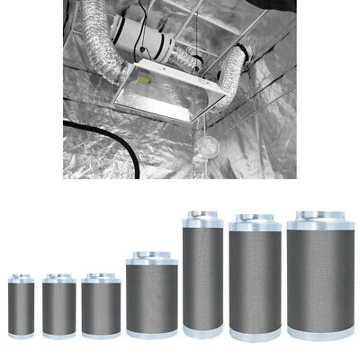 4 6 8 10  Growing Room Tent Carbon Filter Hydroponics Ducting Vent Odour Control • 55.14£