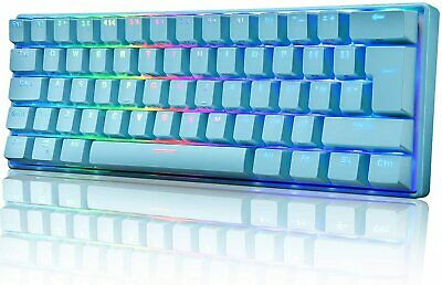 AU64.89 • Buy 60% True Mechanical Gaming Keyboard Wired 61 Keys RGB LED Backlit For MAC PC PS4
