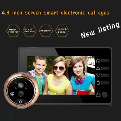4.3 Inch Digital Doorbell 160 Degree Door Viewer Peephole Camera Doorbell • 36.65£