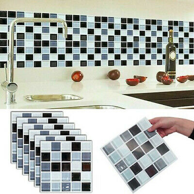 £14.99 • Buy 48pcs Large Kitchen Tiles Stickers Bathroom Mosaic Self-adhesive Wall Home Decor