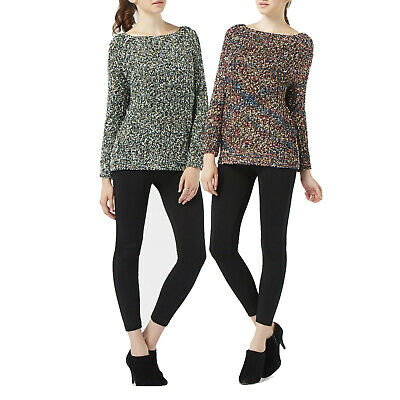 New Womens Knitted All Over Metallic Thread Jumper Slouchy Fit Tops Cardigans • 9.99£