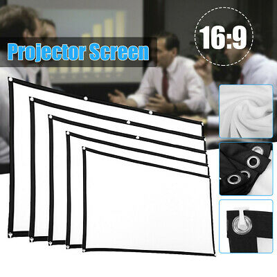 £6.63 • Buy 84 Inch Projection Projector Screen 3D HD Home Cinema-Theater 16:9 Film