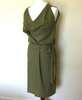 £125 • Buy Vivienne Westwood Anglomania Wonky Green Cowl Neck Dress Size UK 8 - 12 / Eur 40
