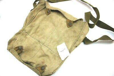 £9.99 • Buy VINTAGE CZECH ARMY M60 GAS MASK BAG DOUBLE ENDED GOOD USED