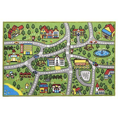 £10.39 • Buy Large Childrens Kids Town Road Map Cars Toy Fun Play Rug Bedroom Mat Village