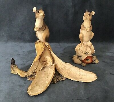 Border Fine Arts Mice On Fruit Resin Figurines • 24£