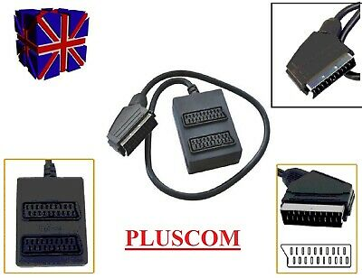 2 Way Switched SCART Cable Signal Splitter For Use With TV, DVD, Xbox UK • 5.99£