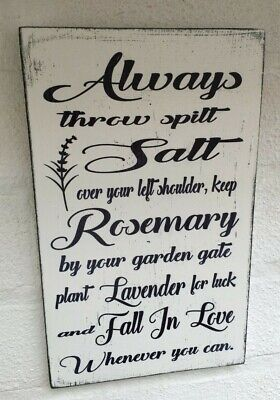 £8.99 • Buy Rustic Practical Magic Quote Halloween Shabby Vintage Chic Sign Plaque