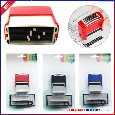 NEW DIY Rubber Stamps Kit Self Inking Business Address Garage Name Personalised • 6.62£