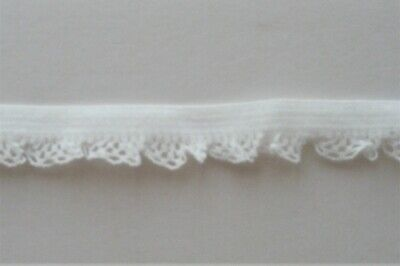 $ CDN2.95 • Buy CRAFT-SEWING-ELASTIC-LACE 5mtrs X 13mm (8mm+5mm Frill) Ivory White Stretch Lace