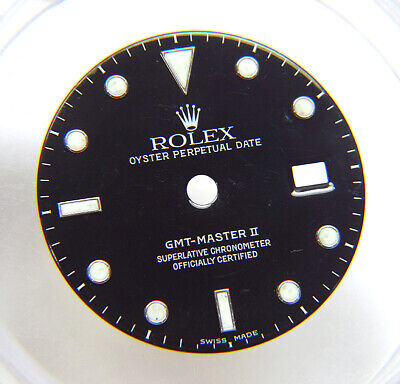 $ CDN586.53 • Buy Genuine Rolex GMT-Master II 16710 16760 Glossy Black Watch Dial SWISS MADE