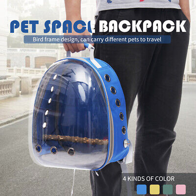 Bird Pet Parrot Carrier Cage Backpack Stands Wood Travel Portable Breathable Bag • 27.99£