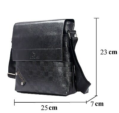 Eagle Classic Leather Bag For Student Business Man Travel Shoulder Crossbody ~O • 14.75£