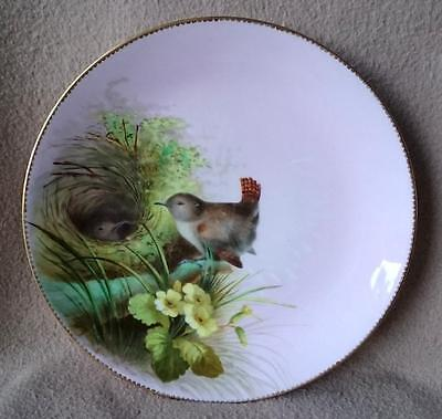 Antique English Victorian Minton Hand Painted Porcelain Cabinet Plate Birds Nest • 60£