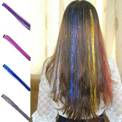 Clip In Hair Hair Extensions Holographic Partystyle Extensions Dazzles Tinsel • 1.80£