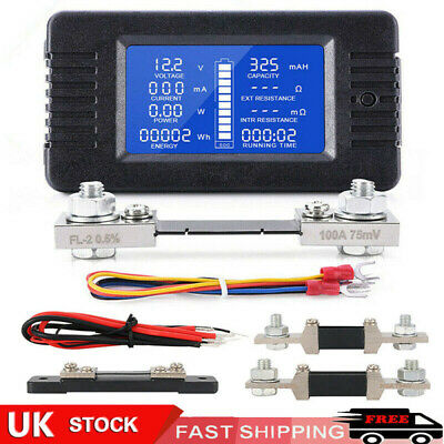 Digital Monitor LCD Watt Meter DC Ammeter RC Battery Power Volt Amp Analyzer-UK • 12.49£