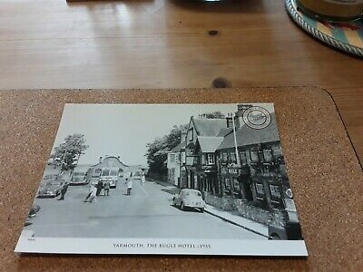 Francis Frith Postcard The Bugle Hotel Yarmouth, Isle Of Wight Morris Minor Iow • 2.50£