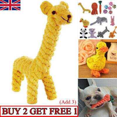 £6.99 • Buy Pet Dog Chew Toys Braided Rope Indestructible Dog Teeth Dental Cleaner Gifts