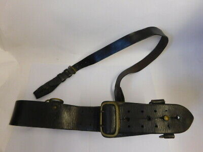 Original Ww1 British Army Officers Sam Browne Belt, Dark Brown Leather.  • 11.50£