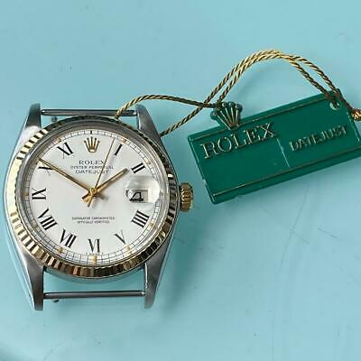 $ CDN4705.26 • Buy Rolex Datejust Reference 16013 Stainless Steel And White Gold Watch 100% Genuine