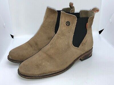 Superdry Women's Leather Chelsea Boots Size 5/38 Beige In Very Good Condition • 31.90£
