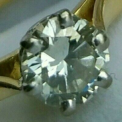 18Ct Gold 0.50Ct Superb Diamond (H Colour) Solitaire Engagement Ring Size O • 599.99£