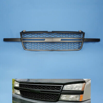 $113.23 • Buy Fit For 2005-07 Chevy Silverado 1500 2500HD 3500 Front Upper Grill Black Grille