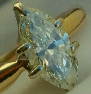 14Ct Gold 0.50Ct Superb Diamond (H/SI1) Marquise Engagement Ring £1495 Valuation • 649.99£