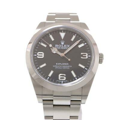$ CDN11774.22 • Buy Auth ROLEX Explorer 1 Watch Men's 214270 Automatic Black Stainless Steel Used
