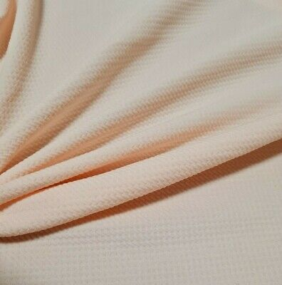 £4.49 • Buy Light Peach Colour Figured Stretch Jersey (thick Ponte) Fabric-sold By The Metre