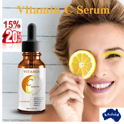 AU15.25 • Buy Vitamin C & E Face Serum With Hyaluronic Acid - Anti Ageing/Aging Anti Wrinkle