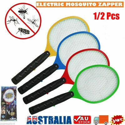 AU11.92 • Buy Electric Bug Zapper Racket Fly Swatter Mosquito Killer Insects Bat Handheld HG