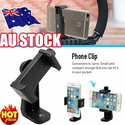 AU9.78 • Buy Universal Smartphone Tripod Adapter Phone Stand Holder Mount For IPhone SamsunHG