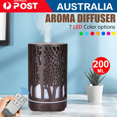 AU28.89 • Buy Aroma Aromatherapy Diffuser Essential Oil Electric Air Humidifier LED 200ML AU