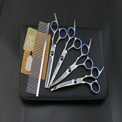Stock Pet Dog Grooming Scissors Straight Curved Thinning Shears Barber Tools • 12.96£