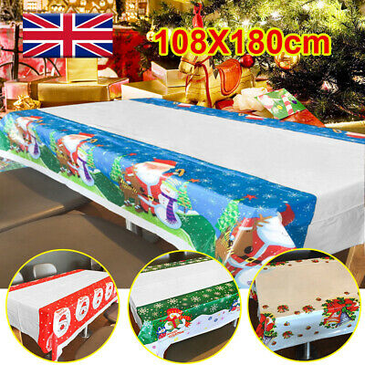 Christmas Pvc Tablecloth Wipeable Table Cloth Cover Wipe Clean Vinyl Oilcloth P • 3.32£