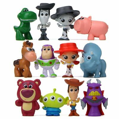 12 PCS Toy Story 2  Cake Topper Model Figure Gift Buzz Lightyear Woody Xmas Gift • 9.35£