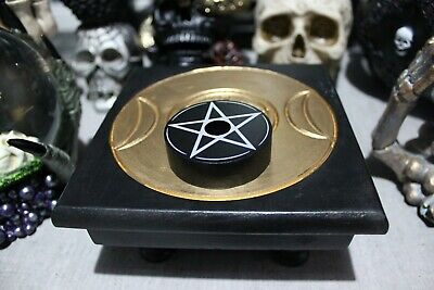 Pentagram Spell Candle Holder - Cures & Curses Witchcraft • 2.49£