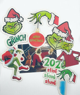 Awesome Sticker Bundle The Grinch 7 Fantastic Christmas Grinch Stickers 2020 • 3.99£