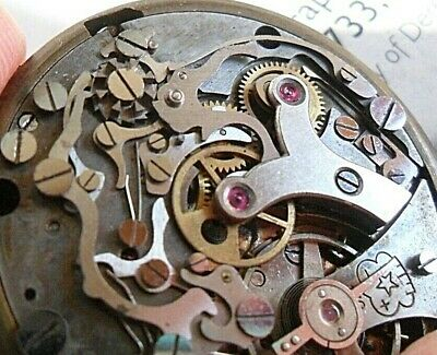 $ CDN13.14 • Buy Vintage 1950's Men's Swiss Chronograph Column Wheel 2 Reg Watch Movement & Dial