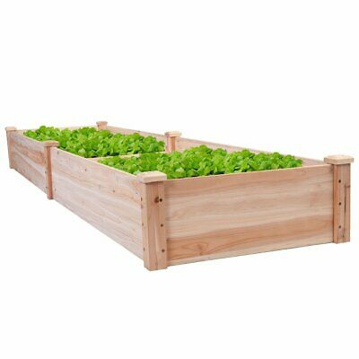 Solid Wood 8 Ft X 2 Ft Raised Garden Bed Planter • 149.32£